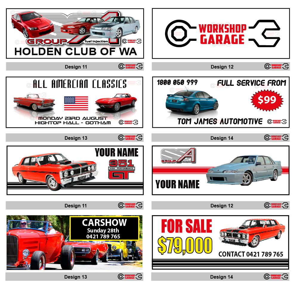 Car banners for garage images want a free savage xl